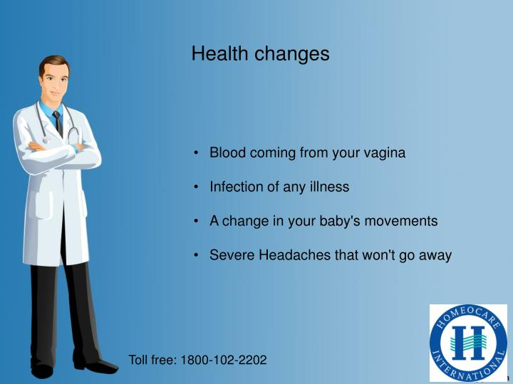 Health changes