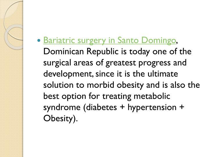 Bariatric surgery in Santo Domingo