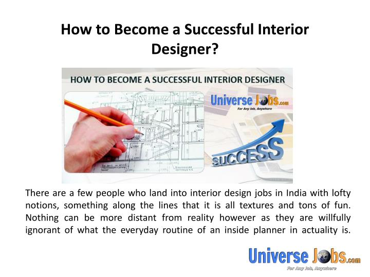 how to become a successful interior designer
