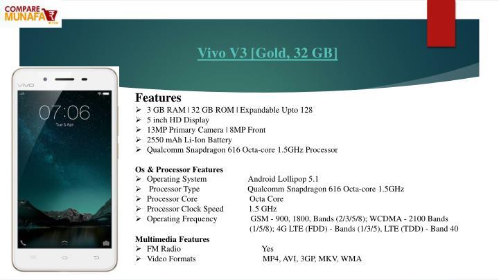 Vivo V3 [Gold, 32 GB]
