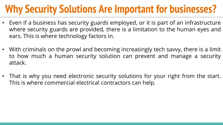 Why security solutions are i mportant for businesses