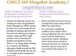 cmgt 410 slingshot academy cmgt410aid com10