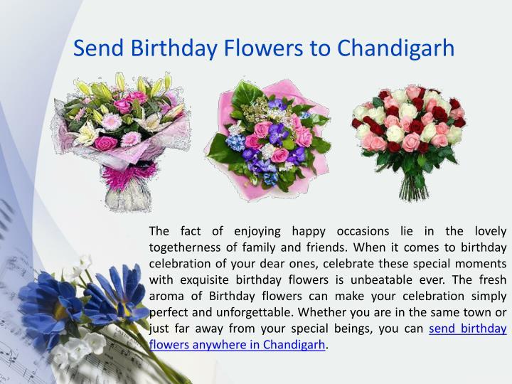 Send birthday flowers to chandigarh