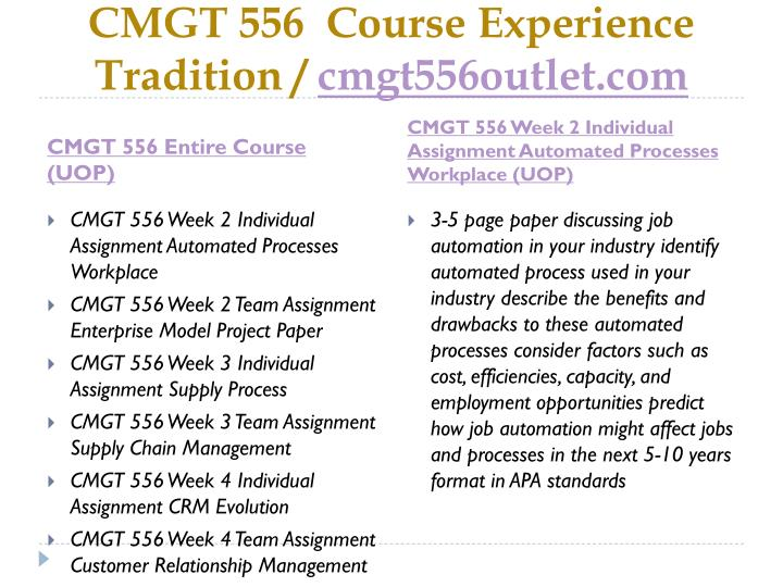 Cmgt 556 course experience tradition cmgt556outlet com1