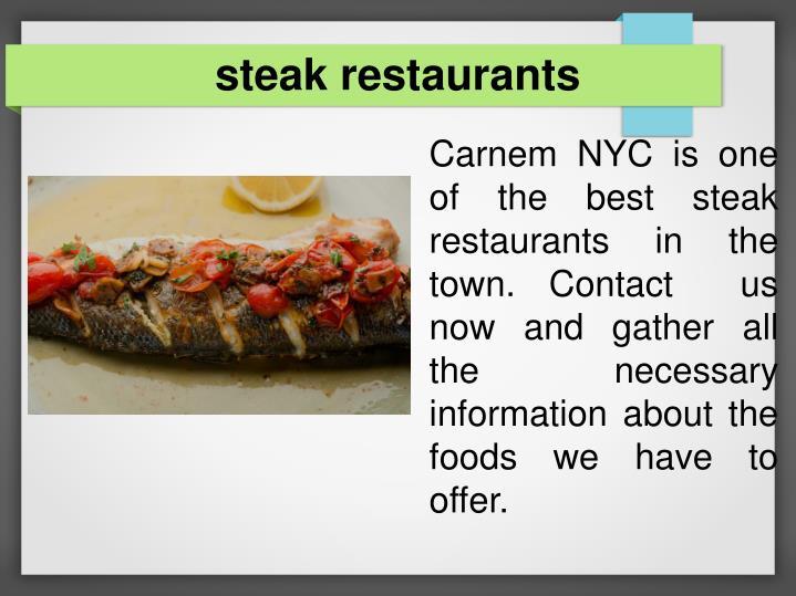 steak restaurants