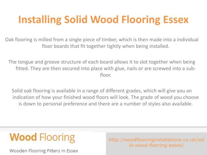 Installing solid wood flooring essex1