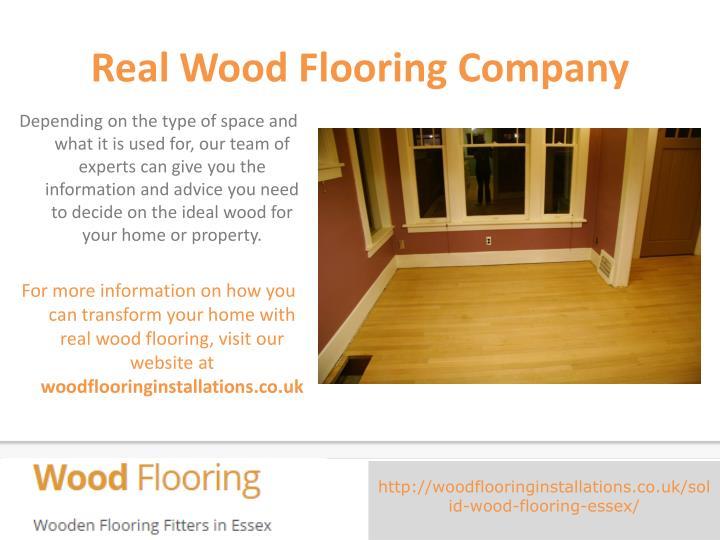 Real Wood Flooring Company