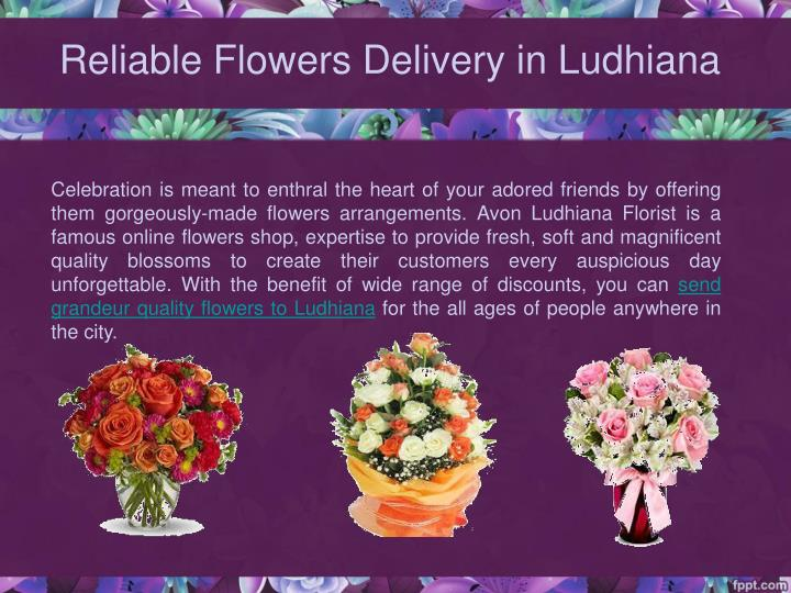 Reliable flowers delivery in ludhiana