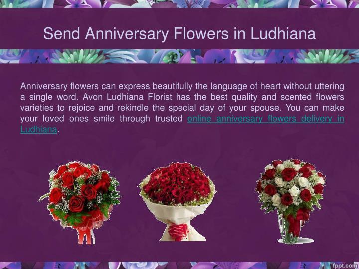 Send Anniversary Flowers in Ludhiana