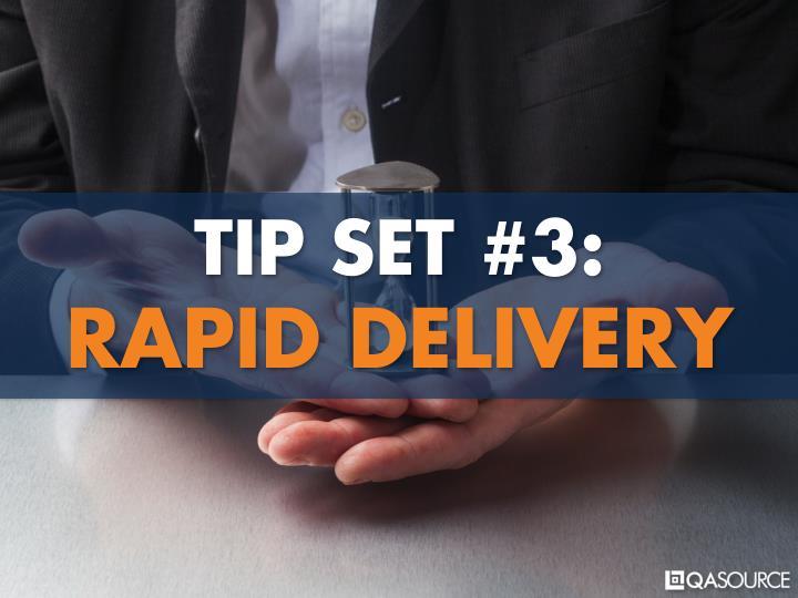 TIP SET #3: