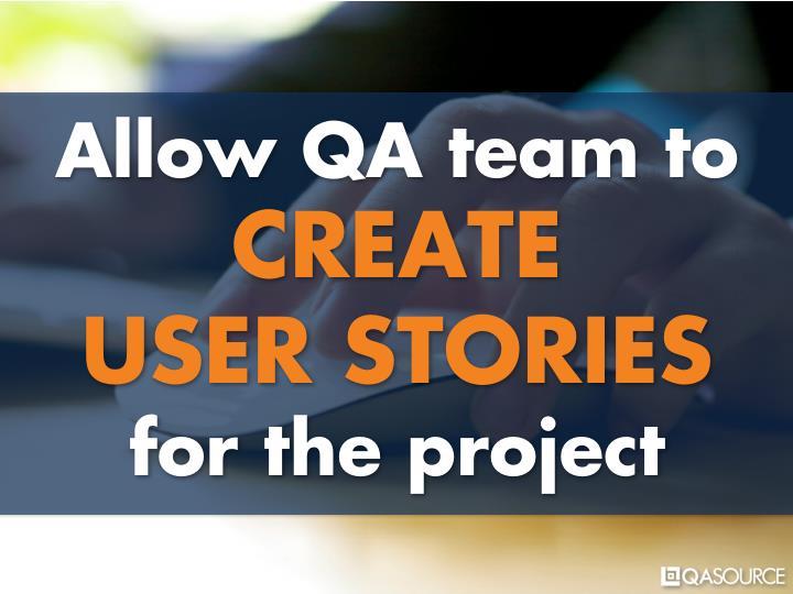 Allow QA team to