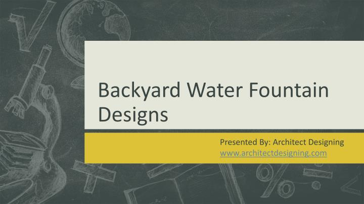backyard water fountain designs n.
