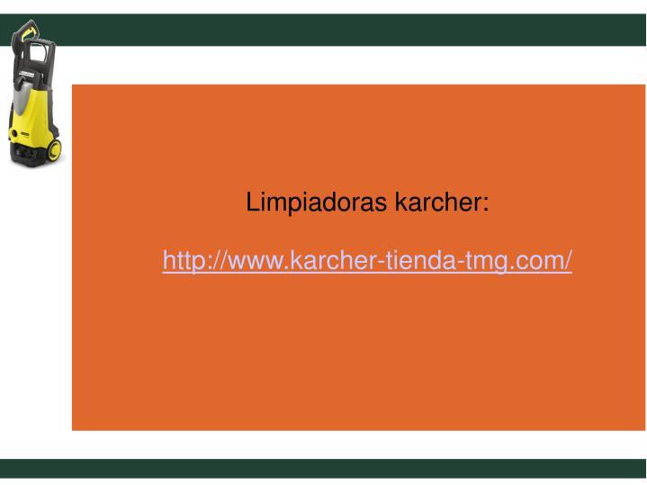 Limpiadoras karcher: