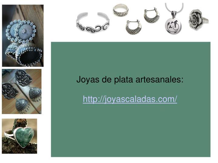 Joyas de plata artesanales: