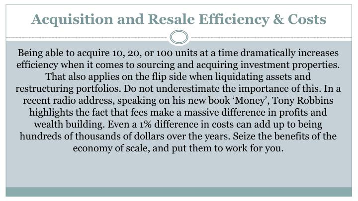 Acquisition and Resale Efficiency &
