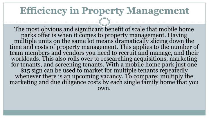 Efficiency in Property