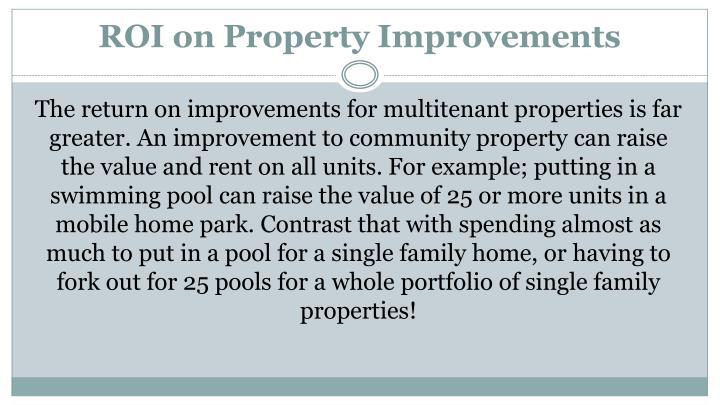 ROI on Property