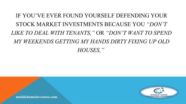 If you've ever found yourself defending your stock market investments because you