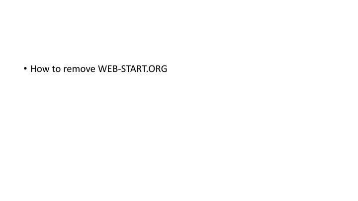 How to remove WEB-START.ORG
