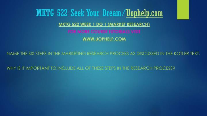 Mktg 522 seek your dream uophelp com1