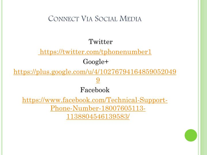 Connect Via Social Media