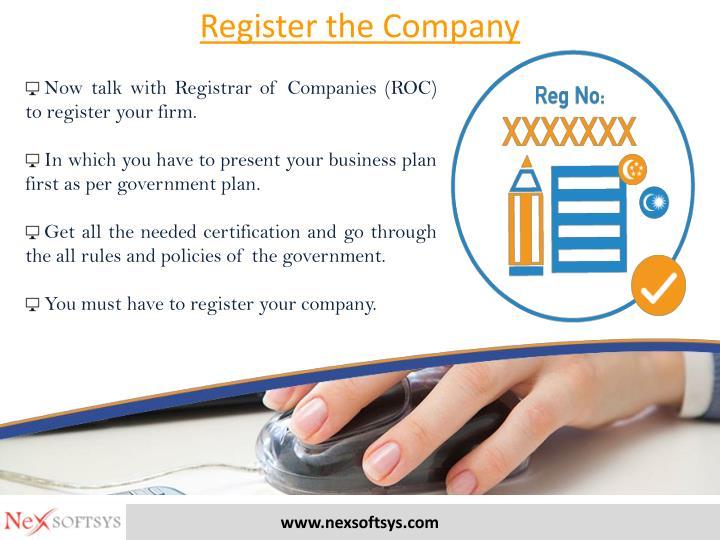 Register the Company