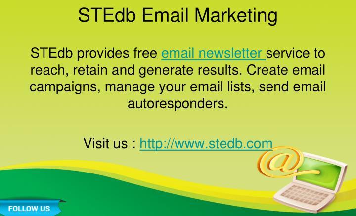 STEdb Email Marketing