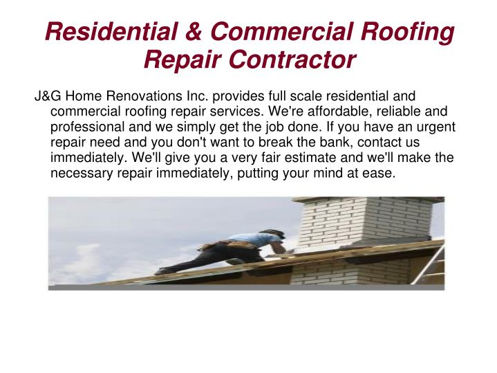 Residential & Commercial Roofing Repair Contractor