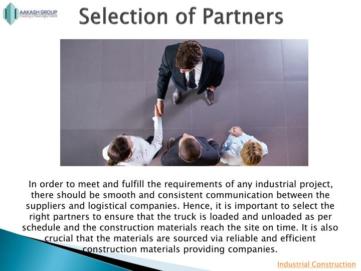 Selection of partners