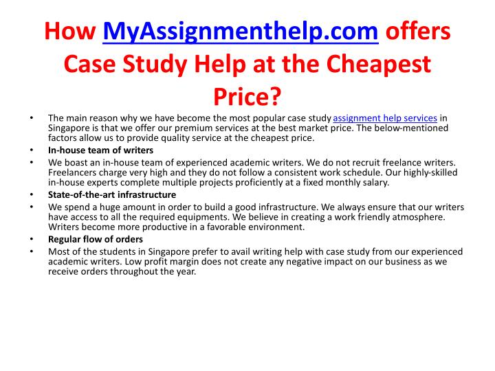 How myassignmenthelp com offers case study help at the cheapest price