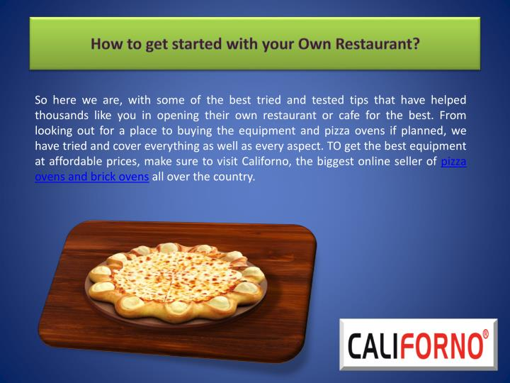How to get started with your own restaurant1