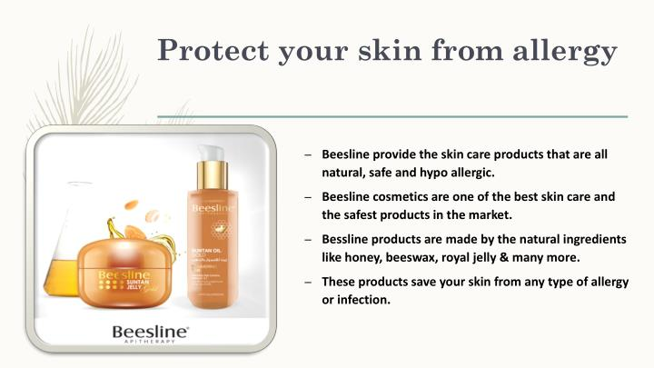 Protect your skin from allergy