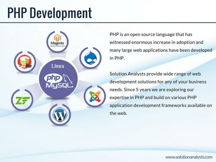 Php website development company solution analysts