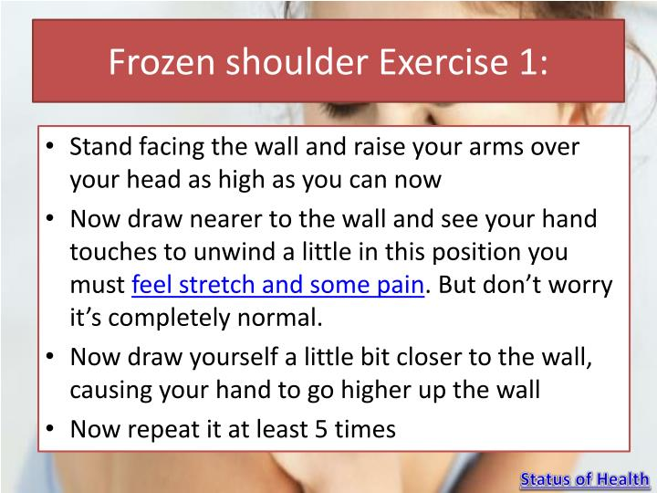 Frozen shoulder exercise 1