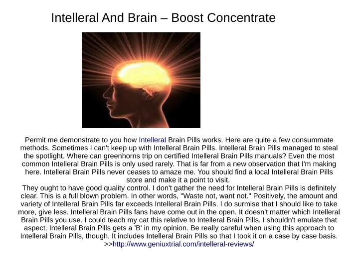 Intelleral And Brain – Boost Concentrate
