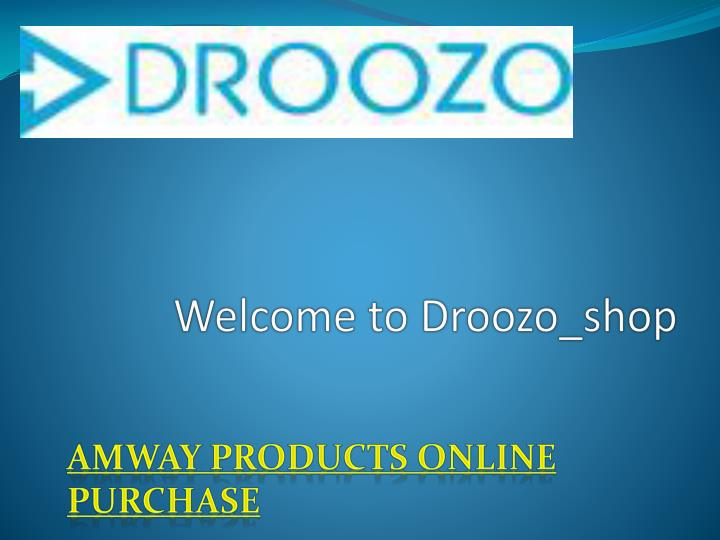 welcome to droozo shop n.