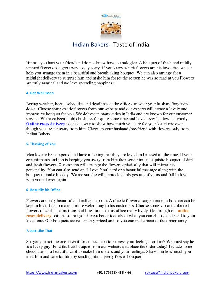 Indian Bakers - Taste of India