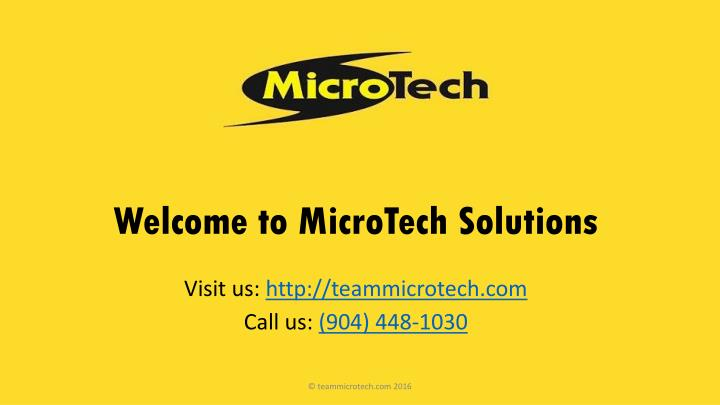 welcome to microtech solutions