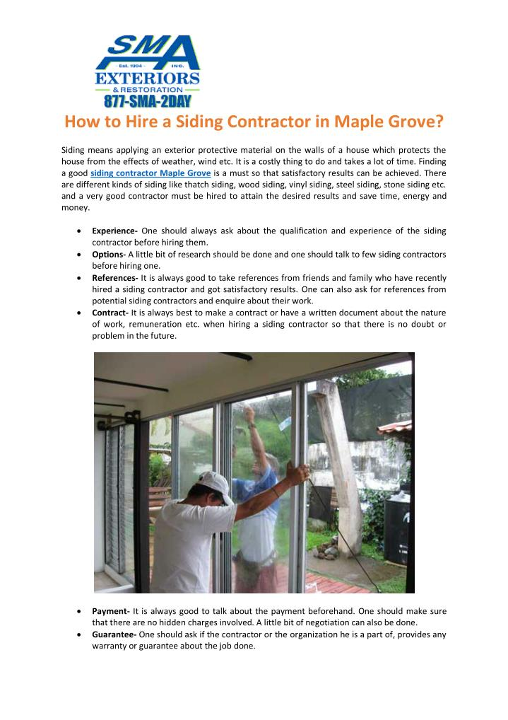 How to Hire a Siding Contractor in Maple Grove?