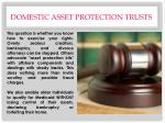 domestic asset protection trusts1