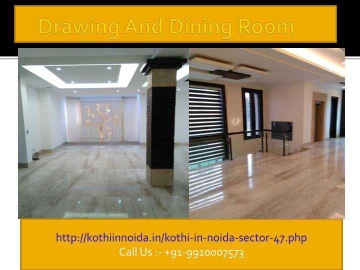 Drawing and dining room