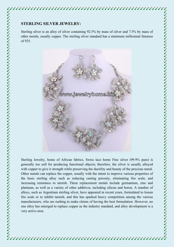 STERLING SILVER JEWELRY: