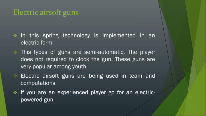 Electric airsoft guns