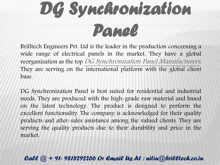 DG Synchronization