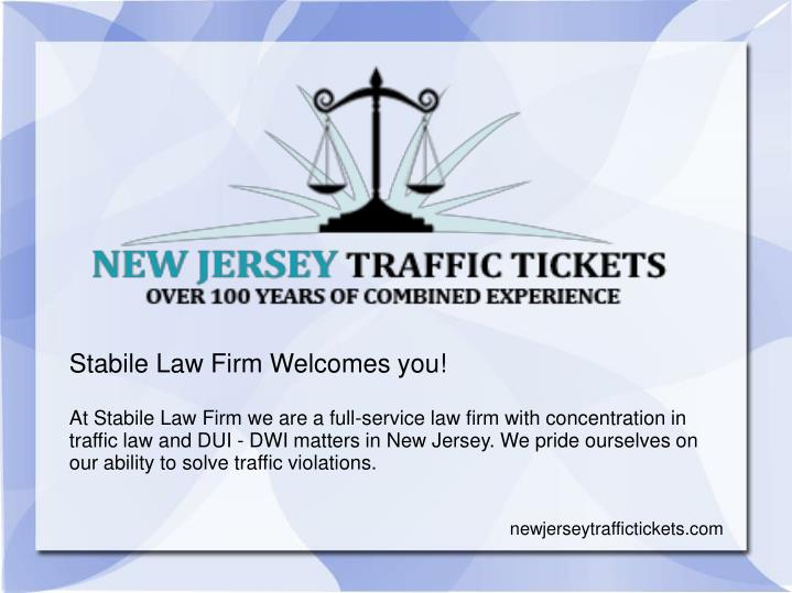 Stabile Law Firm Welcomes you!