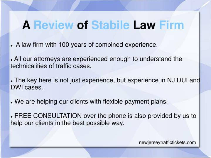 A Review of Stabile Law Firm