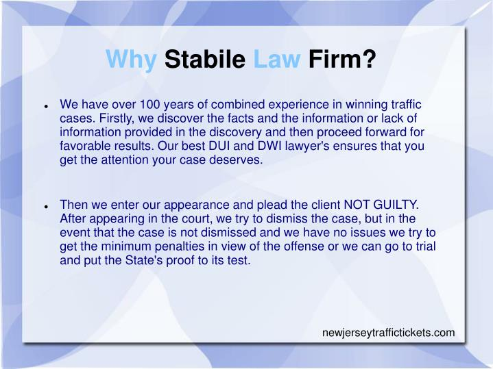 Why Stabile Law Firm?
