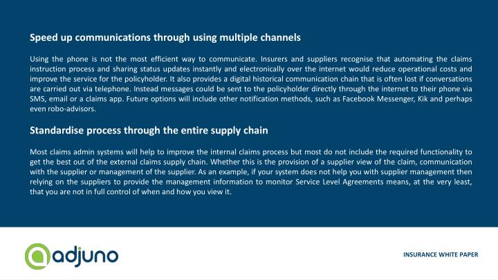 Speed up communications through using multiple channels