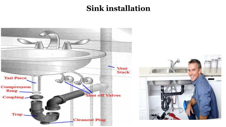 Sink installation