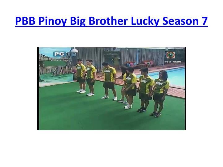 Pbb pinoy big brother lucky season 7